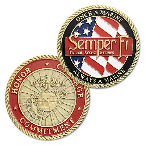 FunYan United States Marine Corps Challenge Coin Creed of Semper Fidelis ()
