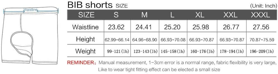 Rosea Mens 3D Padded Bicycle Cycling Underwear Shorts Silica Gel