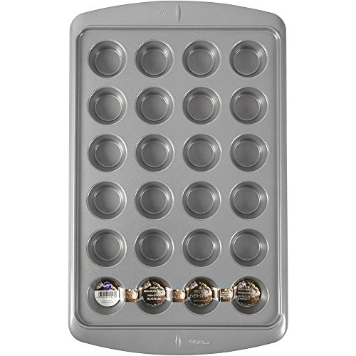Wilton Ever-Glide Muffin Pan, Cup Cakes, Roasted Veggies, Shredded Potato Egg Cups and More, 24-Cup