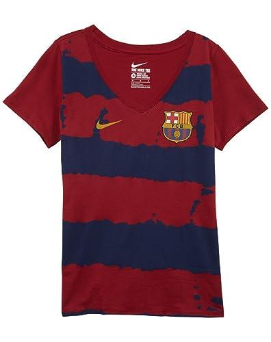Nike FC Barcelona Crest - Camiseta de Cuello para Mujer 5bb66c46928