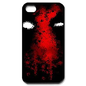 Humorous Heroes Characters Deadpool Case Cover for iPhone 4/4S - Personalized Cell Phone Protective Hard case Shell