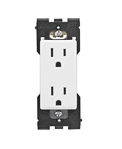 Leviton RER15-WW Renu Tamper-Resistant Outlet, 15-Amp, 125VAC, White on  White