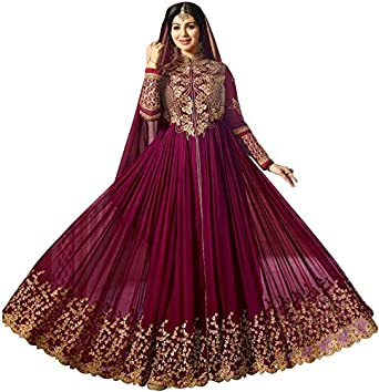 9eb32e07793 MR CROZY Women s Georgette Embroidered Semi-stitched Salwar Suit Dupatta  Material (Free Size)  Amazon.in  Clothing   Accessories