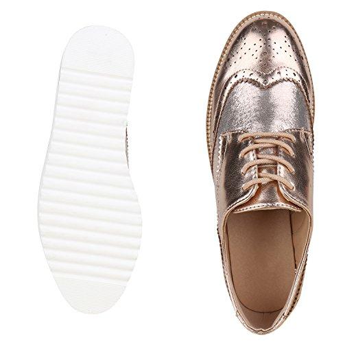 Japado - Zapatos de vestir brogues Mujer Rose Gold