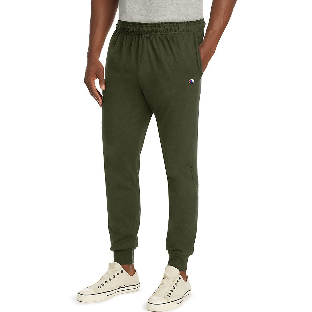 Champion Men's Jersey Jogger, Green Luck, M