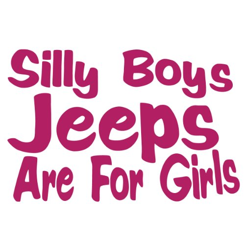 Silly Jeeps Girls Vinyl Sticker