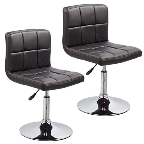 Sensational Duhome 2 Pcs Contemporary Dining Chairs Swivel Height Adjustable Pu Leather Restaurant Cafe Bistro Reception Stools 451N Black Pdpeps Interior Chair Design Pdpepsorg