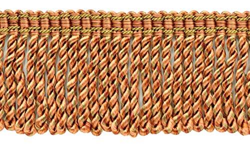DÉCOPRO 18 Yard Package|3 Inch Long Camel Gold, Light Pink, Pumpkin, Terra Cotta Bullion Fringe Trim|Style: BFS3 (22042)|Color: Desert Sand - PR21 (54 Ft / 16.5M)