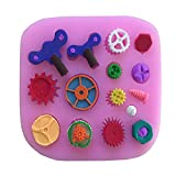 Star-Trade-Inc - Steam Punk Gear Cake Border Decoration Fondant Cake Molds Silicone Chocolate Candy Mold Kitchen Decorating Baking Tools E399