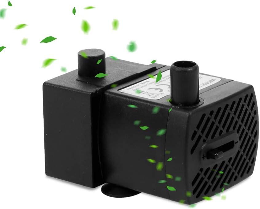 Bedler Pompa Acqua Mini USB Ultra silenziosa da 2 W con Cavo di Alimentazione IP68 Impermeabile per Acquario Acquario per Animali Domestici Pompa dell'Acqua sommergibile