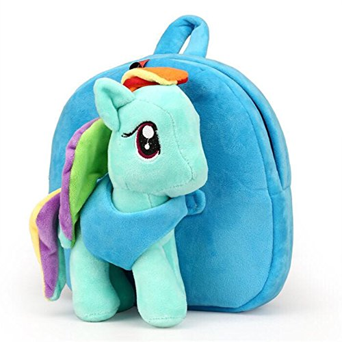 Toddler Backpack with Leash, Detachable Cute 3D Plush My Little Pony Toy, Toddler Kids Backpack for Girls with Harness Age 1-5 Years Old (Rainbow Dash)