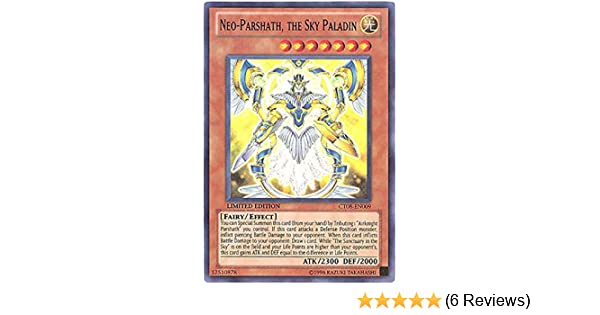 Yu-Gi-Oh! - Neo-Parshath, the Sky Paladin (CT08-EN009) - 2011 Collectors  Tins - Limited Edition - Super Rare