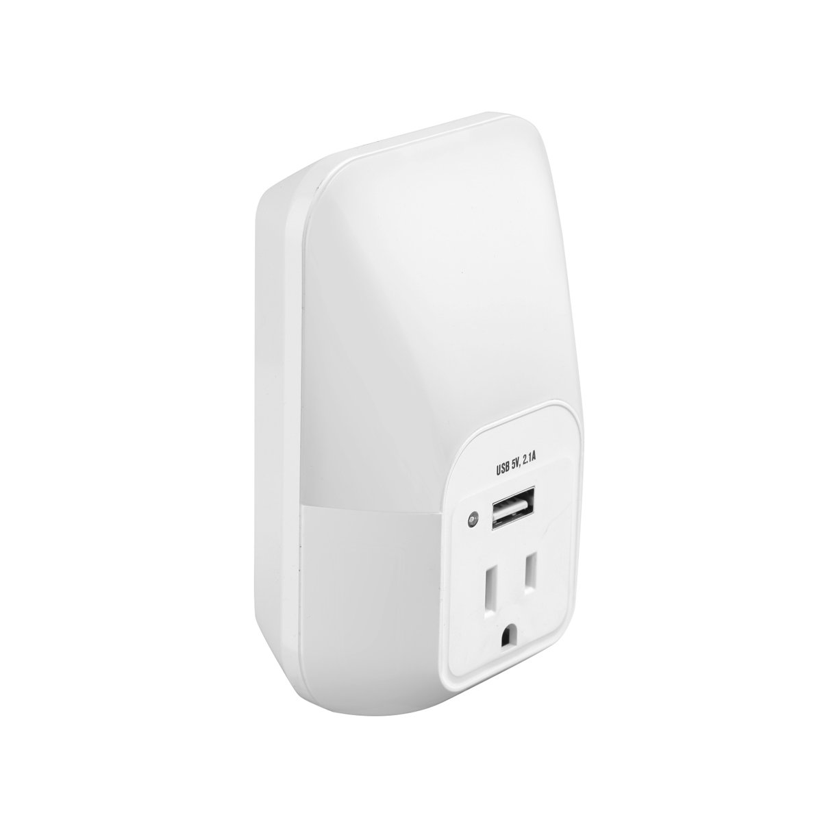 Link2Home EM-PL62W LED Photocell Color Change Night Light with AC Outlet and USB Wall Charger, White - - Amazon.com