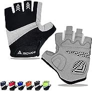 ROVOS Bike Gloves Men & Women Cycling Gloves Bicycle Gloves Bicycling Gloves Half Finger Breathable Mounta