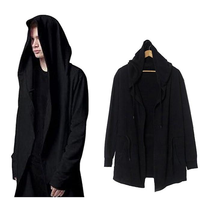 Amazon.com: Weiyi Men's Long Hooded Cape - Black: Clothing