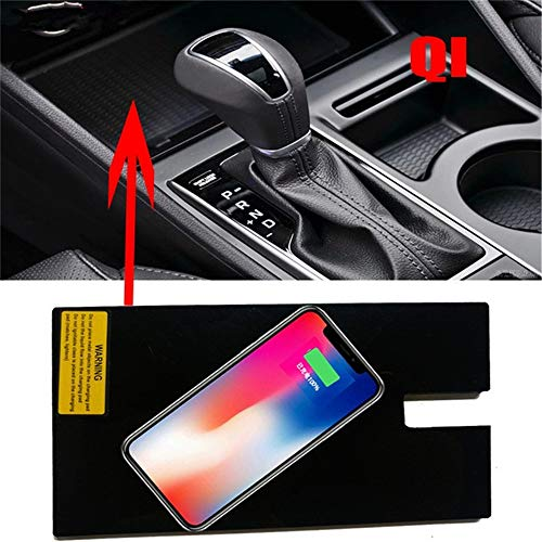 Car QI Certified Wireless Mobile Phone Charging Panel, car Smart Fast Wireless Charger for Modern Tucson -