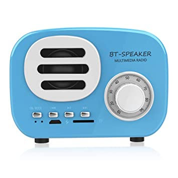 Altavoz Portátil Radio FM Bluetooth USB Recargable, MP3 Lector de ...