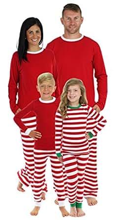 Sleepyheads Red Stripe Family Matching Pajama Set - Kids - Red Top (SHM-3009-K-RED-3T)