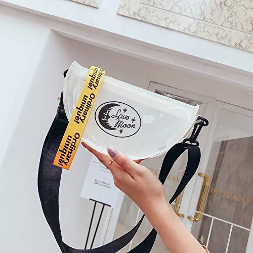 pequeña láser Bolsa Mujer de de Tendencia Paquete Color de impresión Cuadrada Bolsa Lentejuela Costura Bolso Transparente Carta Retro Contraste gelatina wtn7xq5dC