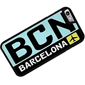 Rubber Case for iphone 6 Airport code BCN / Barcelona country: Spain - Neonblond