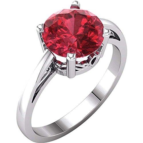 Gold Chatham Ruby Ring - 7
