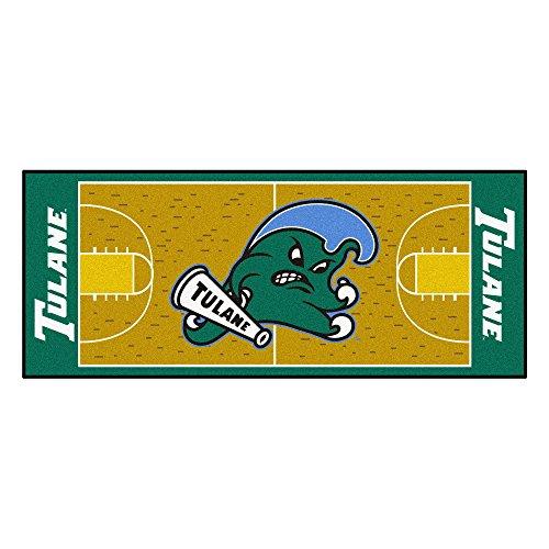 (NCAA Tulane University Green Wave NCAA Basketball Non-Skid Mat Area Rug Runner )