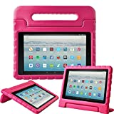 Fire HD 10 Tablet Case,Surom All-New Fire HD 10 2017 Case,Light Weight Shock Proof Convertible Handle Kid-Proof Cover Kids Case for All-New Fire HD 10 Tablet (7th Generation, 2017 Release), Rose Pink