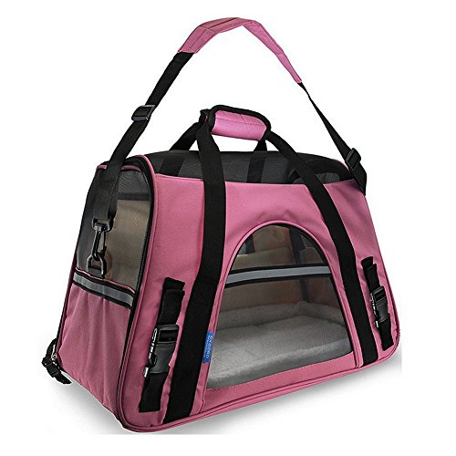 Pet Carrier [Airline Approved] Soft Sided Large Comfort Bag Carrier Travel for Cat Dog Pets Up to 18 lb