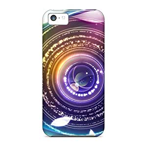 Quality Jeffrehing Case Cover With Digital Abstract Eye Nice Appearance Compatible With Iphone 5c