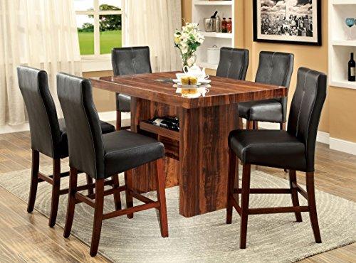 Furniture of America Kona 7-Piece Contemporary Pub Dining Set