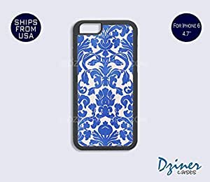 Case Cover For SamSung Galaxy S3 model - Blue Damask