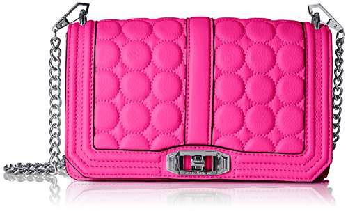 Rebecca Minkoff Love Circle Quilt Cross-Body Bag - Neon P...