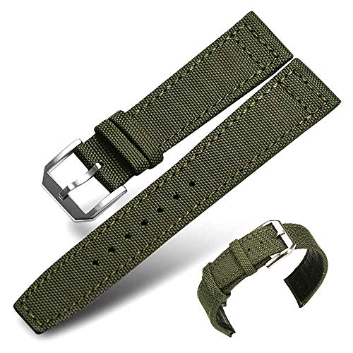 (Premium Nylon NATO Canvas Fabric Replacement Watch Bands Canvas Watch Band Military Army Men Women (20mm))