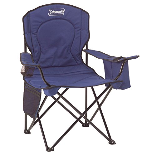 Fabric Outdoor Folding Chair - Coleman Cooler Quad Portable Camping Chair, Blue