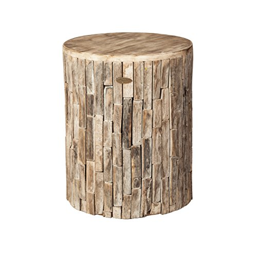 Patio Sense 62420 Elyse Round Garden Stool, Natural (Decorative Garden Stool)