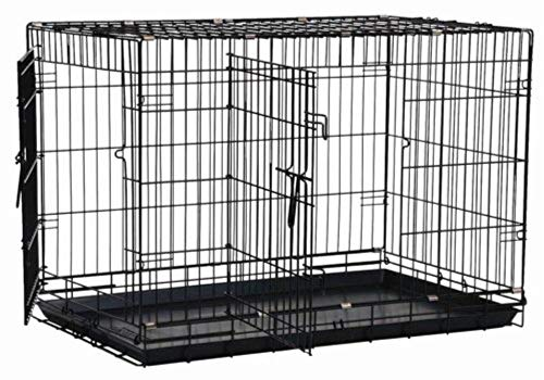 Precision Pet by Petmate 2 Door Great Crate with Precision Lock System Wire Dog Crate, 6 Sizes (Midwest Icrate Double Door Folding Dog Crate)