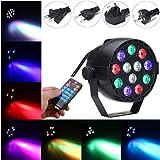 YPINGLI 12W RGB Crystal LED Ball Stage Light Voice Mode Remote Control Light for DJ Disco Halloween Party LED Lights (Color : EU Plug)