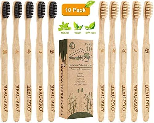 Cepillo Dientes Bambu, Paquete de 10 Cepillo