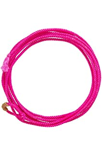 Weaver Kid/'s lariat waxed Rope Hot Pink 5-16 X 20/'