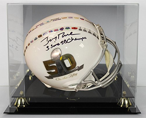 3 Sb Time - Signed Jerry Rice Helmet - 3 Time SB Champs SB 50 F S Rep w Case Itp - PSA/DNA Certified - Autographed NFL Helmets