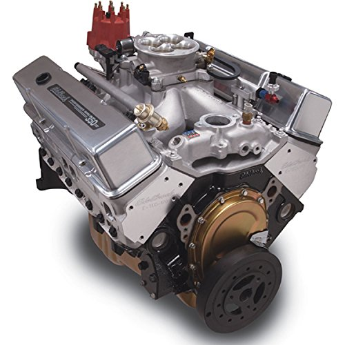 Edelbrock Crate Engine Performer - Edelbrock 46201 Performer RPM E-Tech Pro-Flo 2 EFI Crate Engine 9.5:1 Compression 440HP/425 Torque w/1000cfm 4V ThrottleBody Incl. E-Tec 170 Cyl. Heads PN[60975] w/o Water Pump Polished Performer RPM E-Tech Pro-Flo 2 EFI Crate Engine