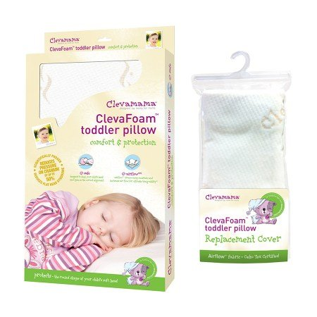 Clevamama Foam Toddler Pillow & Replacement Pillow Cover - 3PC by Clevamama
