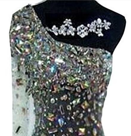 Ballkleid Diamant Silber Banquet Shoulder Damen Pailletten emmani One gxfBYgqT