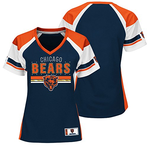 "Chicago Bears Women's Majestic NFL ""Draft Me"" Jersey Top Shirt - Navy"