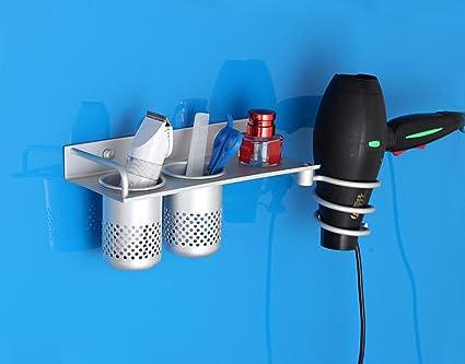 Hair dryer rack Toto Baño baño bastidores portavasos Bastidor de Aluminio del Espacio secador de Pelo