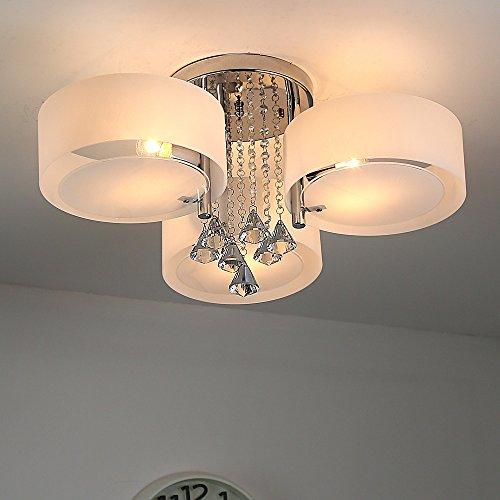Natsen® LED Kristall Deckenleuchte Deckenlampe Designer Wohnzimmer Lampe 3-flammig LED E27 Ø60cm