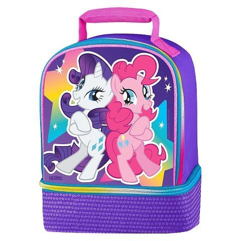 My Little Pony Purple Sequin Bling Dual Insulated Lunch Kit Tote ()