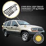 6pc Combo KIT 1999-2004 Jeep Grand Cherokee Gas Shocks Struts Prop Lift Rod Supports 2) Hood 2) Tailgate/Liftgate/Hatch/Trunk 2) Rear Window Glass Door Set