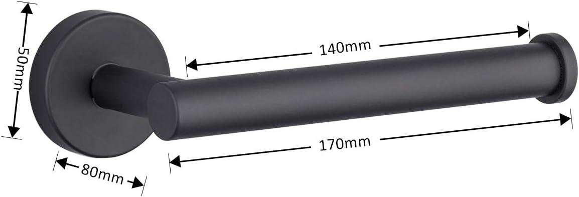 GAPPO Portarrollos de papel higi/énico negro acero inoxidable