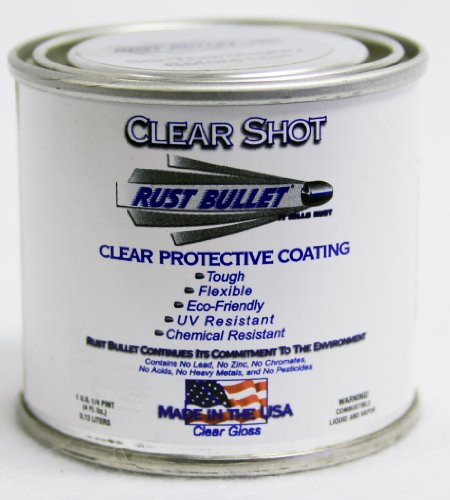 Rust Bullet CSQP Clear Shot Rust Preventative and Protective Coating Paint, 1/4 Pint Metal Can, Clear Gloss